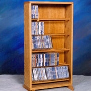Wood Shed 500 Series 210 CD Dowel Multimedia Storage Rack; Unfinished