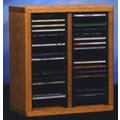 Wood Shed 200 Series 40 CD Multimedia Tabletop Storage Rack; Unfinished