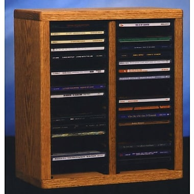 Wood Shed 200 Series 40 CD Multimedia Tabletop Storage Rack; Clear
