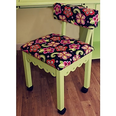 Arrow Sewing Cabinets Sewing Chair with Underseat Storage; Green