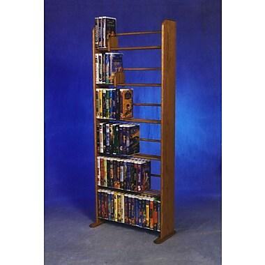 Wood Shed Delux VHS Dowel Multimedia Storage Rack; Clear