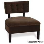 Ave Six Curves Button Chair; Chocolate Velvet Fabric