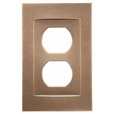 RQ Home Single Duplex Magnetic Wall Plate; Classic Bronze