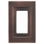 RQ Home Single GFCI Magnetic Wall Plate; Oil Rubbed Bronze
