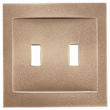 RQ Home Double Toggle Magnetic Wall Plate; Classic Bronze