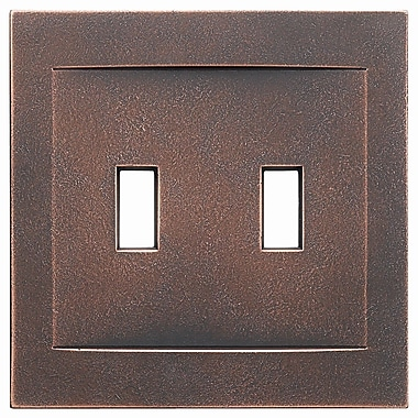 RQ Home Double Toggle Magnetic Wall Plate; Oil Rubbed Bronze