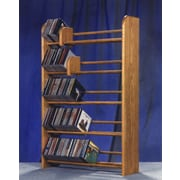 Wood Shed 500 Series 275 CD Multimedia Storage Rack; Natural