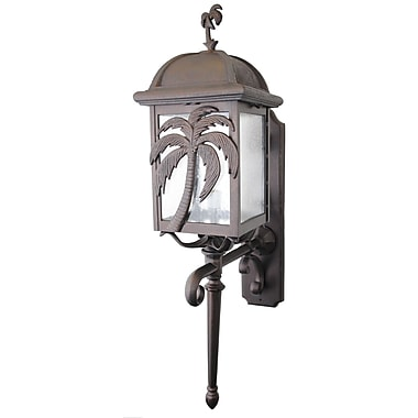 Melissa Americana 3 Light Outdoor Sconce; White