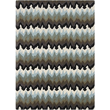 Chandra Bajrang Gray Area Rug; 5' x 7'