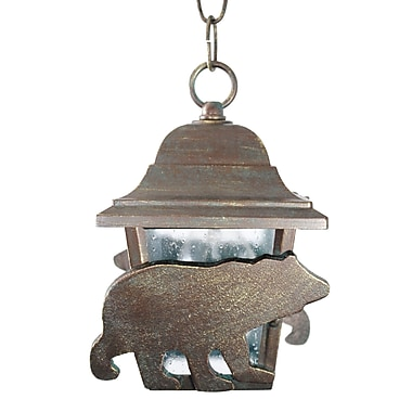 Melissa Americana 1 Light Outdoor Wall Lantern; Aged Silver