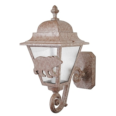 Melissa Americana 1 Light Outdoor Sconce; Old Bronze