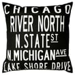 Uptown Artworks Chicago Linen Throw Pillow