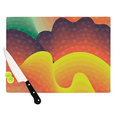 KESS InHouse Waves, Waves Cutting Board; 11.5'' H x 8.25'' W x 0.25'' D