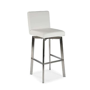 Moe's Home Collection Giro 30'' Swivel Bar Stool ; White