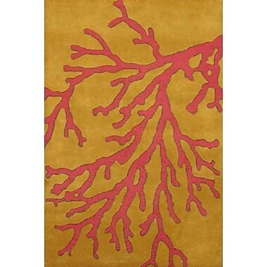 Meva Rugs Calypso Gold Area Rug; 5' x 8'
