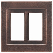 RQ Home Double GFCI Magnetic Wall Plate; Oil Rubbed Bronze