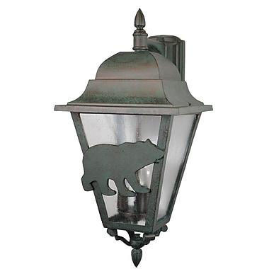 Melissa Americana 3-Light Outdoor Wall Lantern; Black