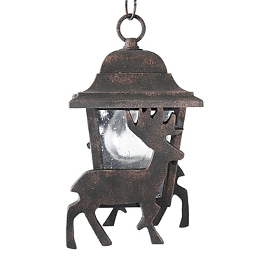 Melissa Americana 1 Light Outdoor Hanging Lantern; Patina Bronze