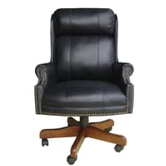 Parker House Home Office High-Back Leather Executive Chair with Nailhead Arms