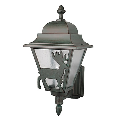 Melissa Americana 1 Light Outdoor Sconce; Old Copper