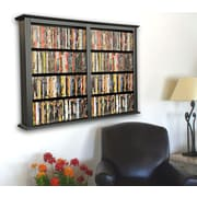 Venture Horizon VHZ Entertainment Double Wall Mounted Storage Rack; Black