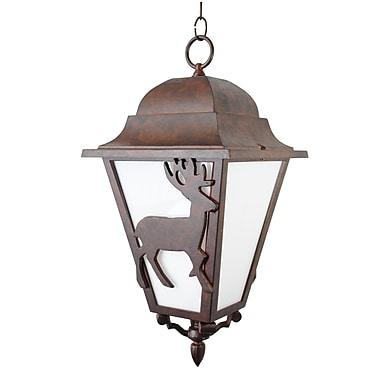 Melissa Americana 3 Light Outdoor Hanging Lantern; Black