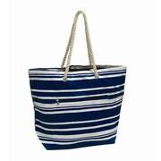 Preferred Nation Stripe Shopping Tote; Navy