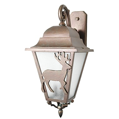 Melissa Americana 3-Light Outdoor Wall Lantern; Aged Silver