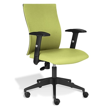Jesper Office Kaja Office Chair with Arms; Green Fabric