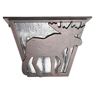 Melissa Americana 1-Light Flush Mount; Patina Bronze