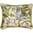 123 Creations Magnolia Needlepoint Pillow; Blue