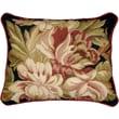 123 Creations Magnolia Needlepoint Pillow; Black