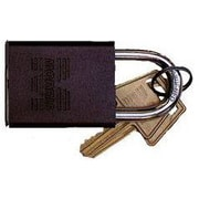 Morris Products Hardened Steel Padlocks Keyed Alike; Brown