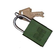 Morris Products Hardened Steel Padlocks Keyed Alike; Green