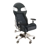 Pit Stop Furniture Chair with Lumbar Support; Black