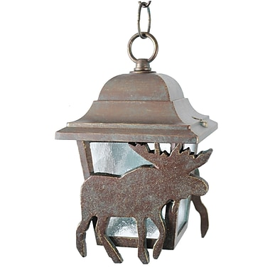Melissa Americana 1-Light Outdoor Hanging Lantern; Old Copper