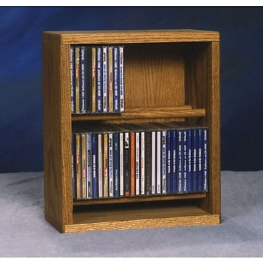 Wood Shed 200 Series 52 CD Multimedia Tabletop Storage Rack; Natural