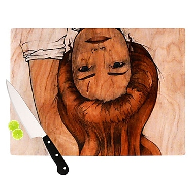 KESS InHouse Girl Cutting Board; 11.5'' H x 8.25'' W x 0.25'' D