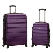 Rockland Melbourne 2 Piece Expandable Luggage Set; Purple