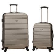Rockland Melbourne 2 Piece Expandable Luggage Set; Silver