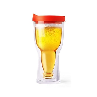 AdNArt Brew 2 Go Beer Tumbler; Red