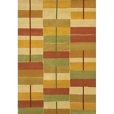 Chandra Aadi Gold/Red Area Rug; 2' x 3'
