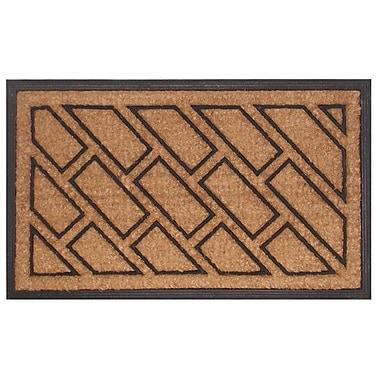 Imports Decor Molded Offset Brick Doormat; 18'' x 30''