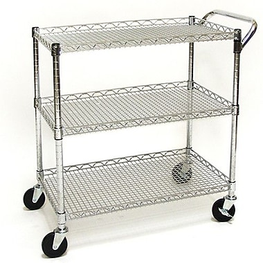 Seville Classics Shelf UltraZinc Commercial 33.5'' Utility Cart