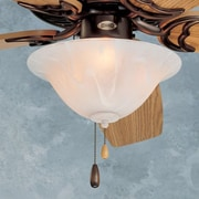 Emerson Fans Three Light Swirl Bowl Ceiling Fan Light Kit; Incandescent
