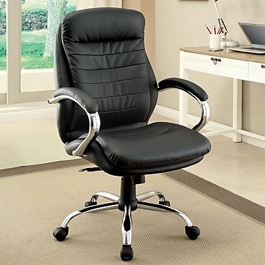 Hokku Designs Alexander High-Back Leatherette Executive Chair with Arms
