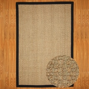 Natural Area Rugs Seagrass Lancaster Black Area Rug; 5' x 8'