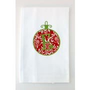Samantha Grace Designs Egyptian Cotton Huck Holiday Applique Ornament Hand Towel; V
