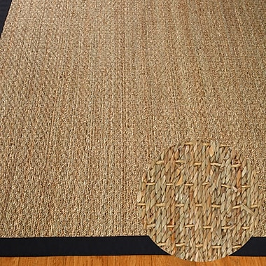 Natural Area Rugs Black/Tan Maritime Area Rug; 9' x 12'