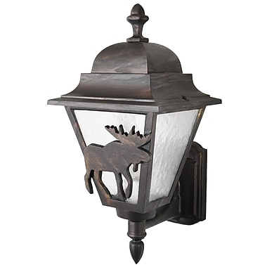 Melissa Americana 1-Light Outdoor Sconce; Old Iron